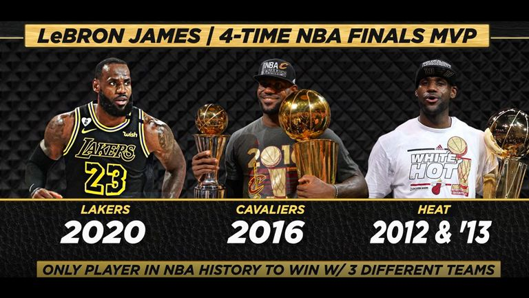 LeBron James is the only player to win NBA Finals MVP with three different teams - credit NBA
