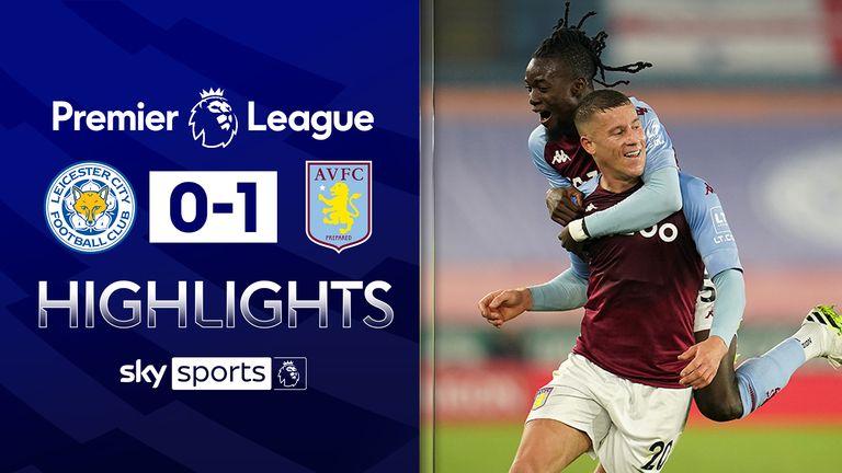 Sorotan Leicester v Aston Villa