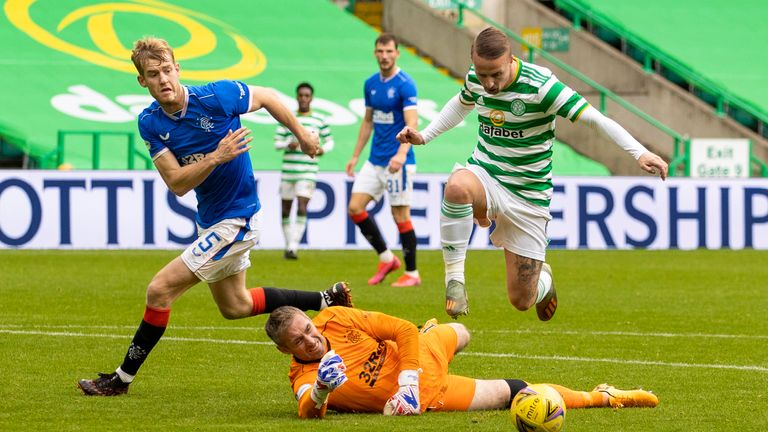 Substitute Leigh Griffiths should have pulled a late goal back after rounding Allan McGregor