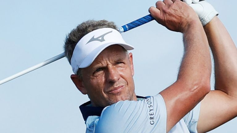 Luke Donald fired a commendable 68 on day two