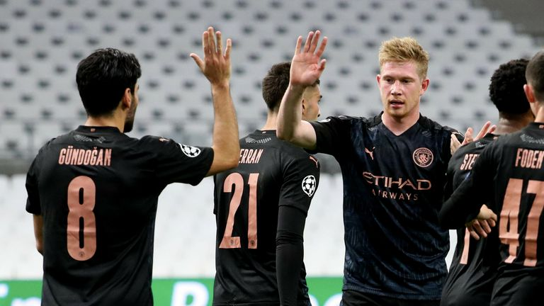 Kevin de Bruyne provided two assists on his return to the City side
