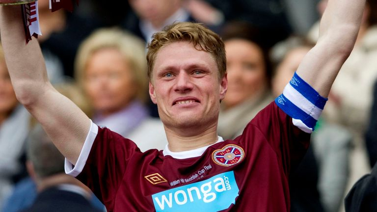 Zaliukas captained Hearts to the 2012 Scottish Cup in a 5-1 win over Hibernian at Hampden Park