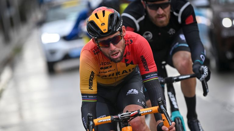 Mark Cavendish in action at the Gent-Wevelgem classics race