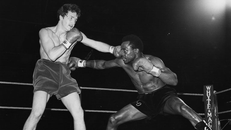 West Indies born boxer Maurice Hope fights against Mike Baker for the world light-middleweight title at Wembley Arena, London.