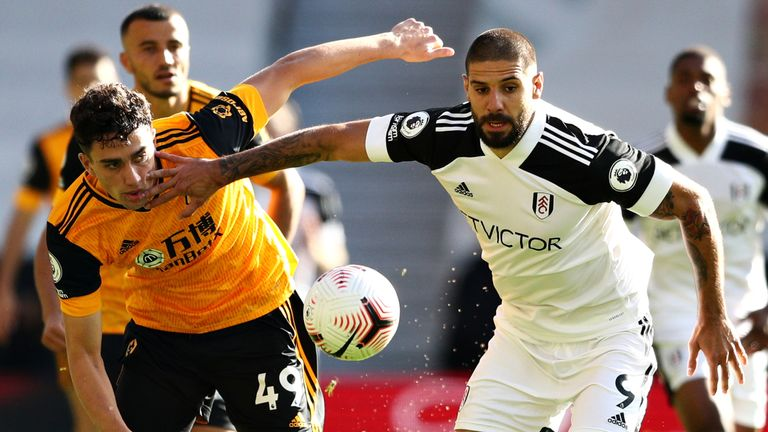 Max Kilman and Aleksandar Mitrovic in Premier League action at Molineux