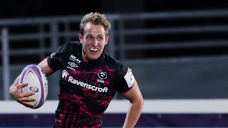 Max Malins scored Bristol's second try in their Challenge Cup final win over Toulon