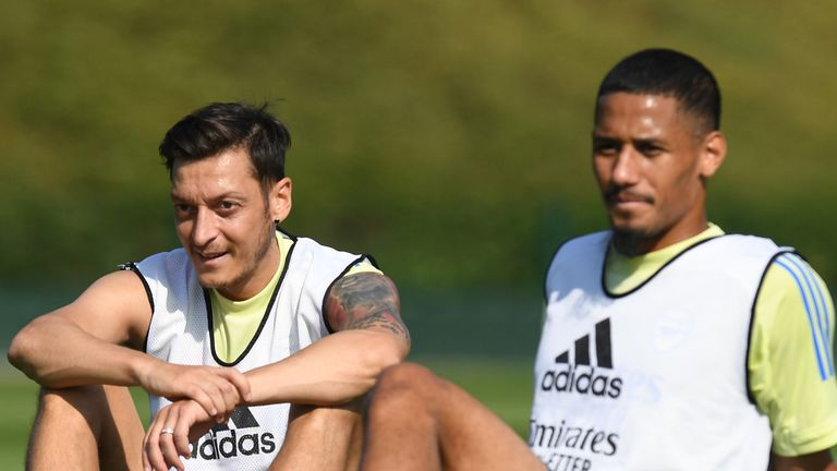 Mesut Ozil and William Saliba have both been left out of Arsenal's Europa League squad