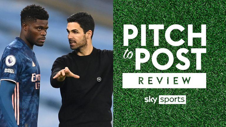 Pitch to post Sky SPorts Arsenal Mikel Arteta