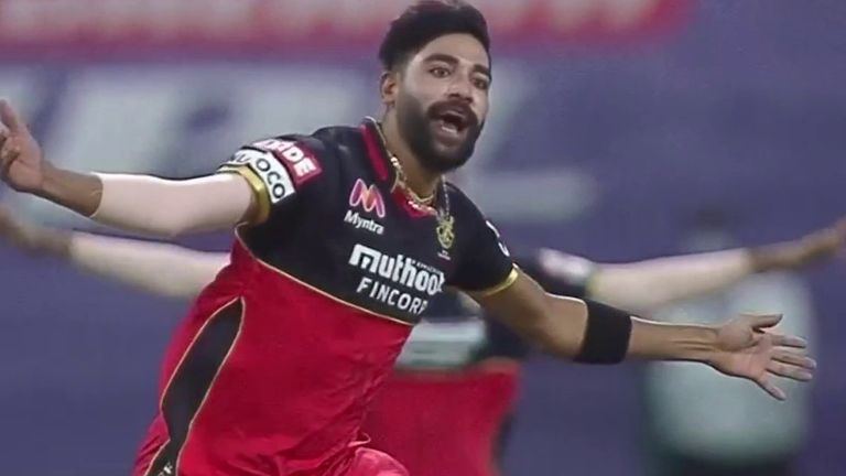 Mohammed Siraj was magnificent on his return to the RCB side