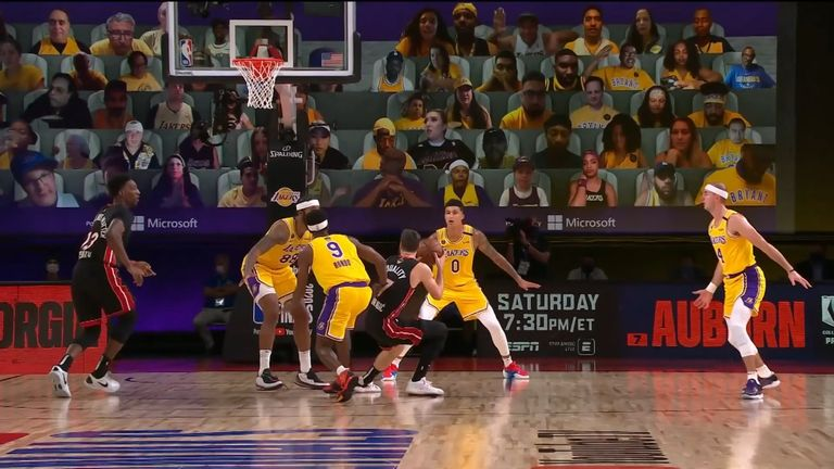 Goran Dragic left Game 1 of the NBA Finals with an injured foot as the Miami Heat fell to a 116-98 defeat at the hands of the Los Angeles Lakers.
