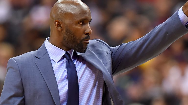 Head coach Lloyd Pierce of the Atlanta Hawks reacts after a play against the Washington Wizards during the first half at Capital One Arena on January 2, 2019 in Washington,