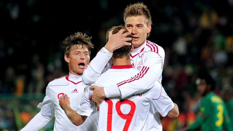 Bendtner scored 30 goals in 81 games for Denmark