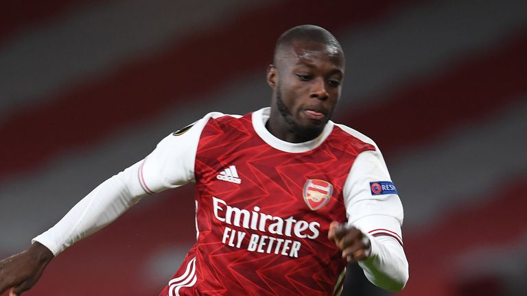 Arsenal's Nicolas Pepe scored in a patchy performance from player and team