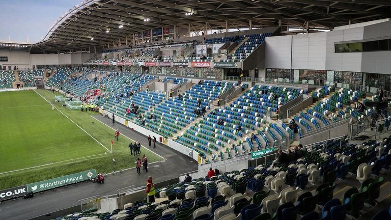 Northern Ireland welcomed 600 fans to their recent Nations League game against Austria at Windsor Park