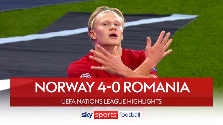 Norway 4-0 Romania in Nations League