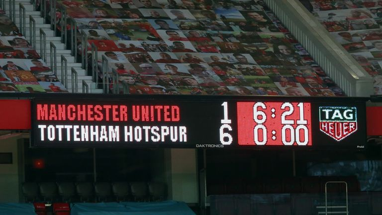 Old Trafford scoreboard
