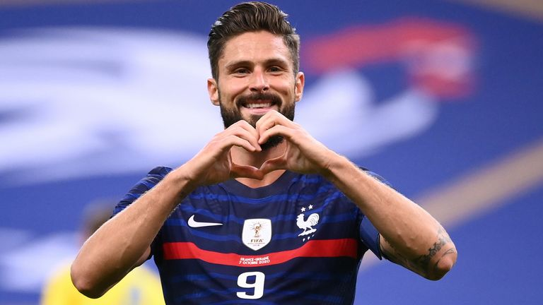 Olivier Giroud was in fine form for France on Wednesday night