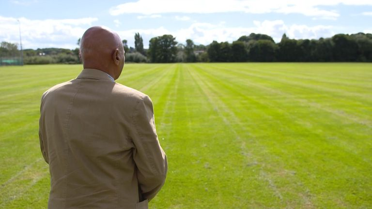 Paul looks over some of the playing fields at Fernwood School