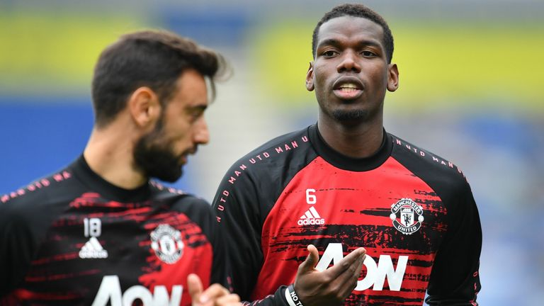 Can Bruno Fernandes and Paul Pogba play together in Man Utd midfield?