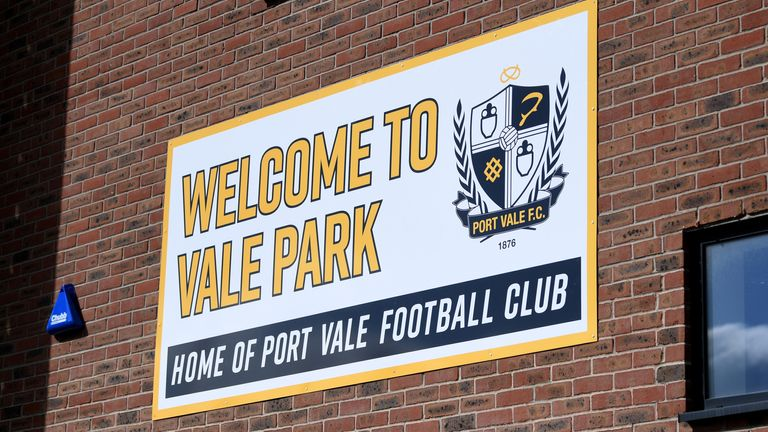 General view of Port Vale's Vale Park