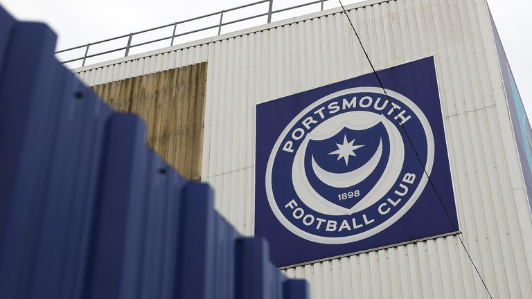 PORTSMOUTH, ENGLAND - MARCH 20: General view outside Fratton Park home of Portsmouth Football Club on March 20, 2020 in Portsmouth, England. All English football has been postponed until at least the 30th April due to the Coronavirus (COVID-19) pandemic. (Photo by Naomi Baker/Getty Images)