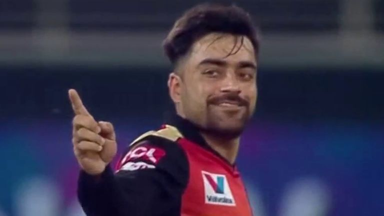 Leg-spinner Rashid Khan bagged 1-20, taking the wicket of Ben Stokes in four impressive overs