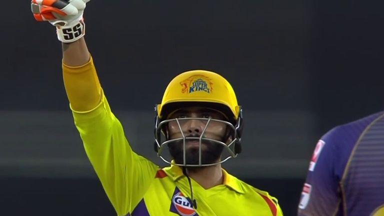 Ravindra Jadeja smashed back-to-back sixes in Chennai Super Kings' IPL win over Kolkata Knight Riders