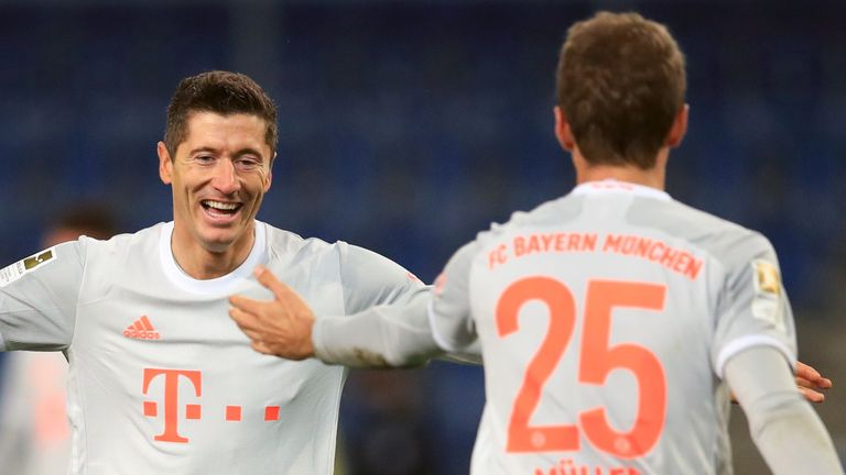 Robert Lewandowski and Thomas Muller were devastating for Bayern on Saturday