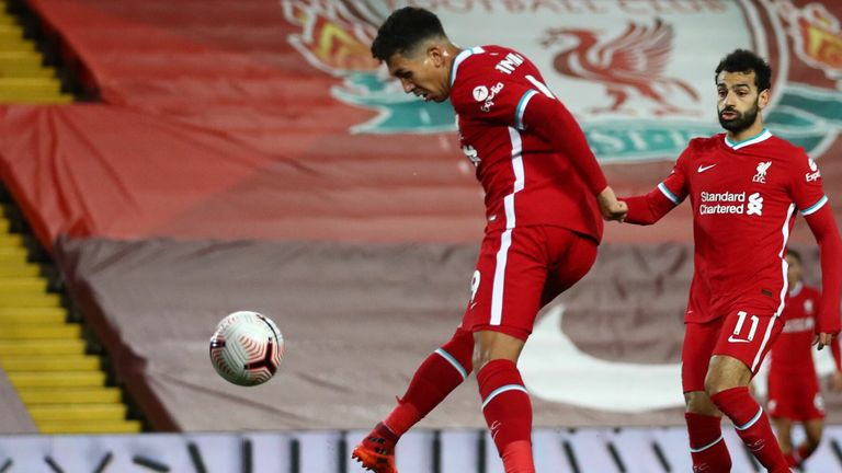 Roberto Firmino tapped home to bring Liverpool level