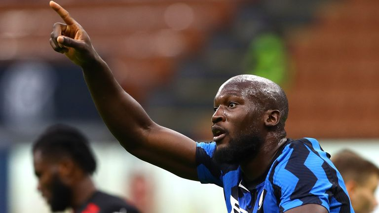Romelu Lukaku pulled one back for Inter but could not find another