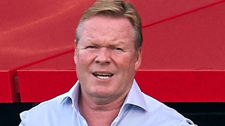 Barcelona head coach Ronald Koeman