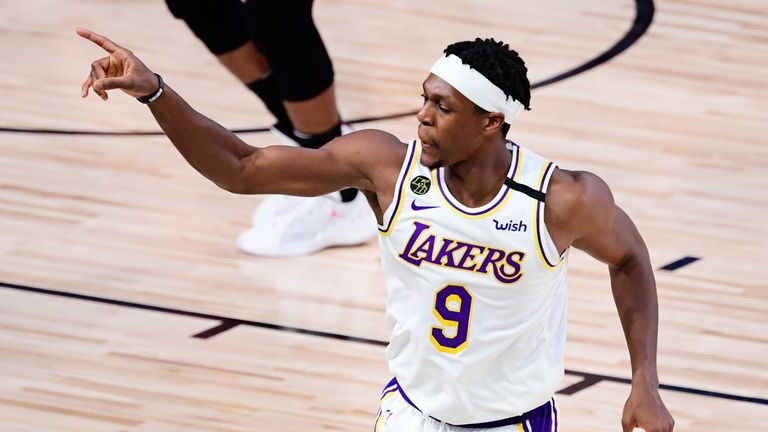 Rajon Rondo in game 6 for Lakers against Miami