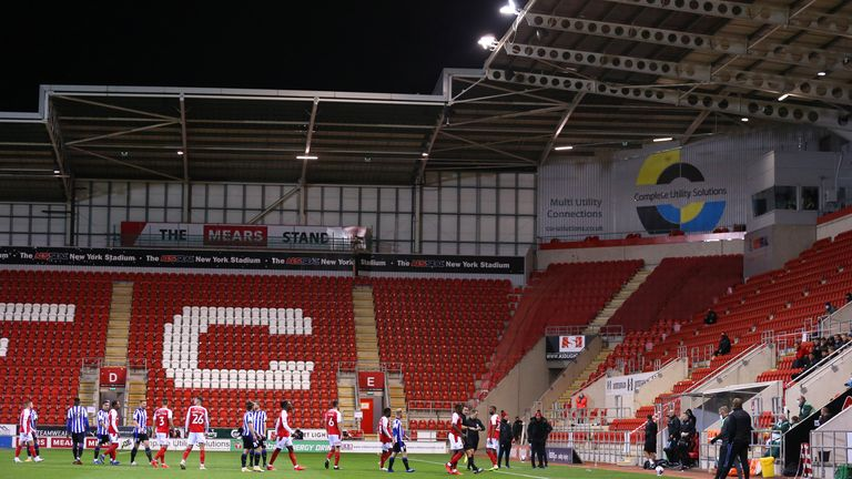 Rotherham's match with Sheffield Wednesday was delayed by a drone overhead