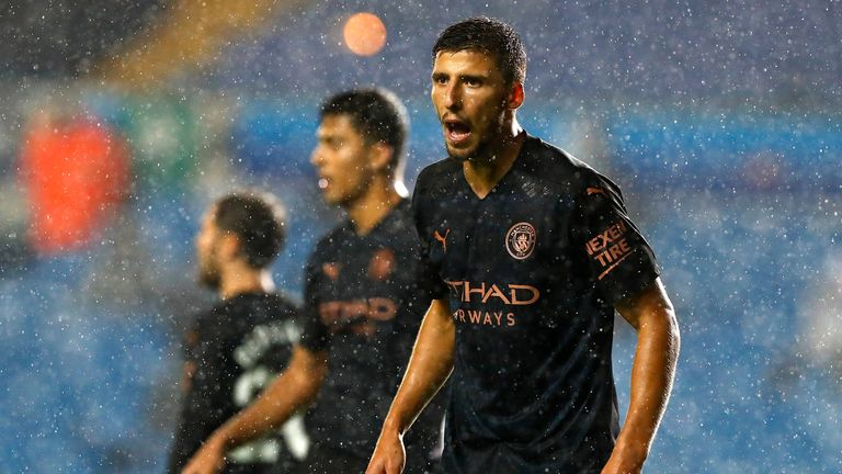 Ruben Dias on his Manchester City debut against Leeds United