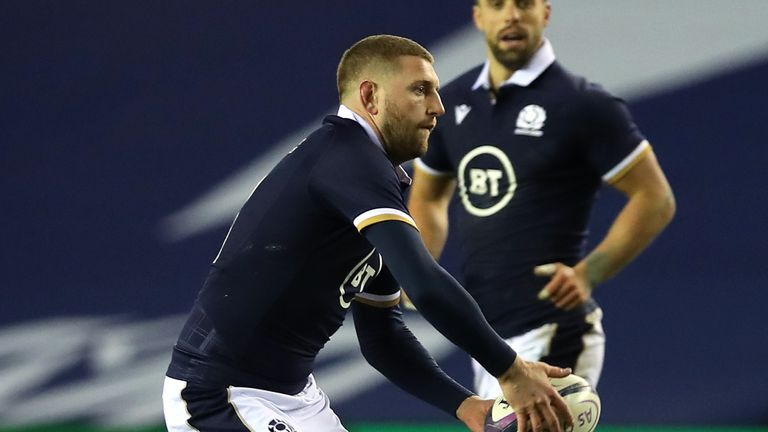 Russell came off the bench in Scotland's match against Georgia