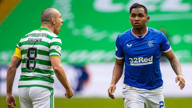 Scott Brown enjoyed a feisty affair against Rangers forward Alfredo Morelos