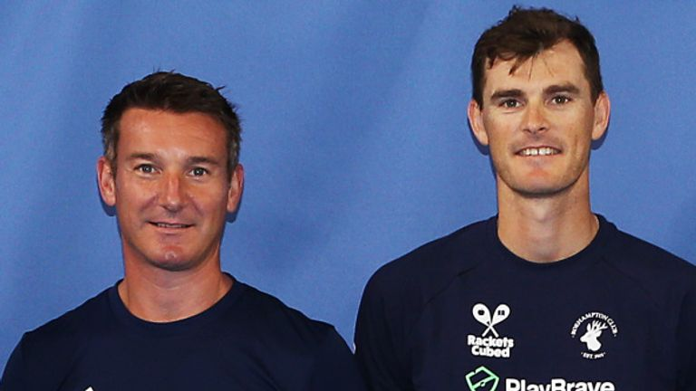 Jamie Murray (right) says Lloyd 'really cares' about British tennis