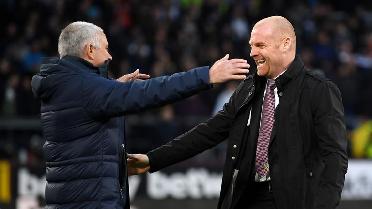 Sean Dyche says he does not envy the position of big-name bosses like Jose Mourinho