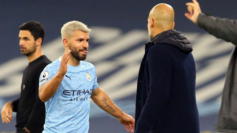 Sergio Aguero is substituted in the second half
