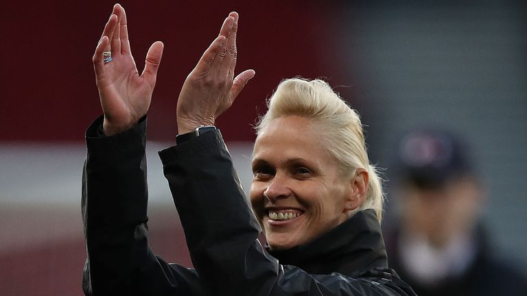 Scotland Head Coach Shelley Kerr is seen during the Women's International Friendly match between Scotland and Jamaica at Hampden Park on May 28, 2019 in Glasgow, Scotland.
