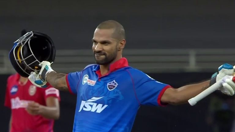 Shikhar Dhawan the first player to score IPL tons in consecutive innings  but Delhi beaten by Kings XI | Cricket News | Sky Sports