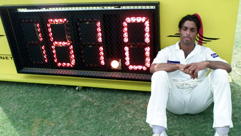 Shoaib Akhtar is one of three bowlers to have passed the 100mph mark