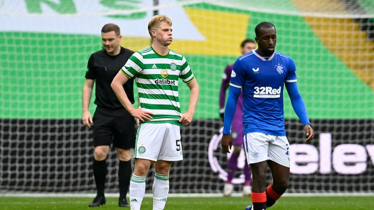 Stephen Welsh, making his Old Firm debut, had an afternoon to forget at Celtic Park
