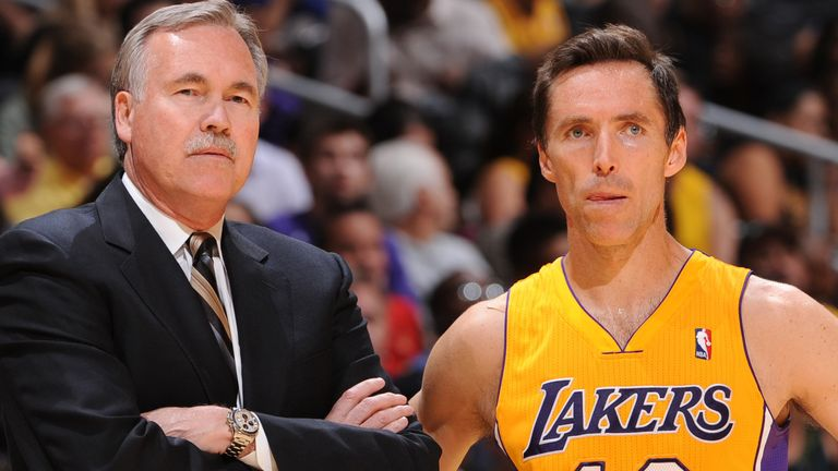 Mike D'Antoni coached Steve Nash on both the Los Angeles Lakers and Phoenix Suns