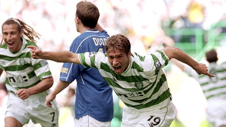 Stiliyan Petrov scored in Celtic's 6-2 win over Rangers at Celtic Park in August 2000