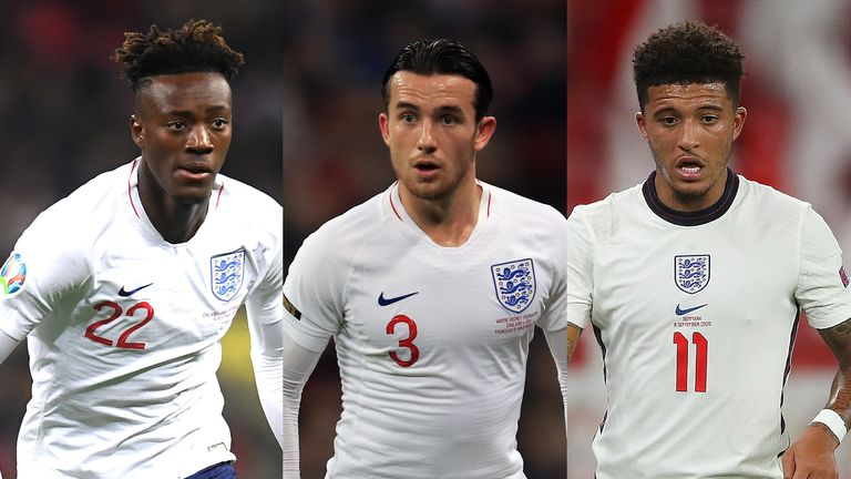 Tammy Abraham, Ben Chilwell and Jadon Sancho