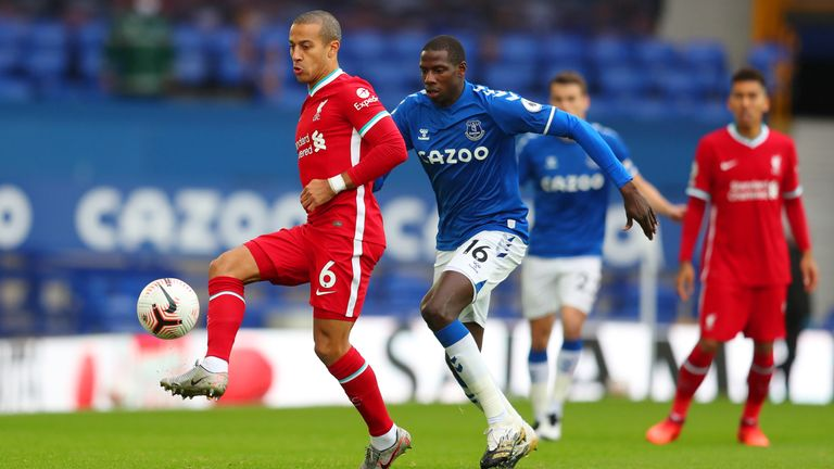 Thiago Alcantara played superbly in his first Merseyside derby experience