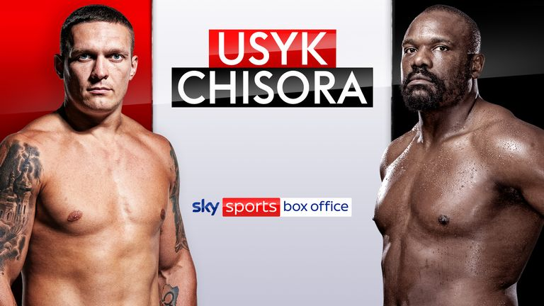 Oleksandr Usyk vs Derek Chisora is live on Sky Sports Box Office
