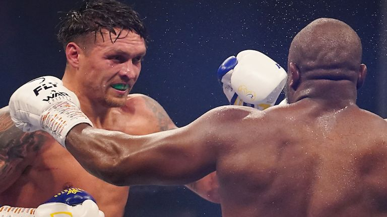 Usyk is the WBO mandatory challenger to Anthony Joshua