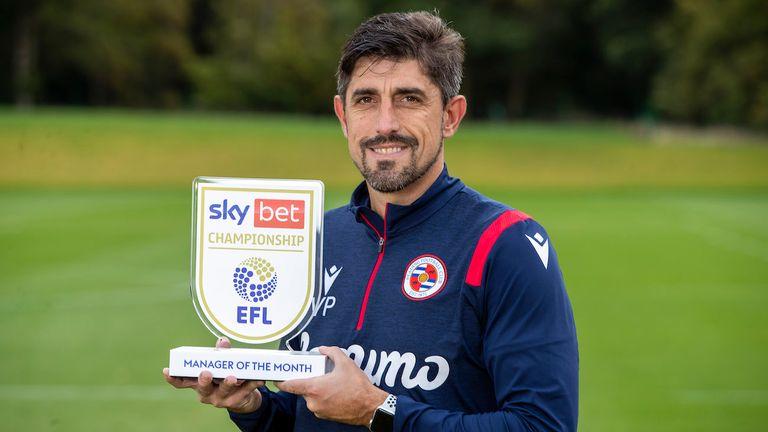 Veljko Paunovic, Reading FC manager wins the Sky Bet Championship Manager of the Month for September 2020